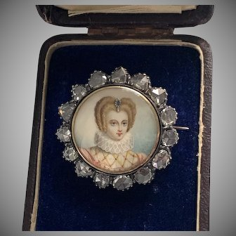 Extraordinary Portrait Miniature of an Elizabethan Woman