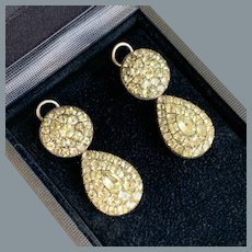 Rare 18th Century Portuguese Chrysoberyl Earrings