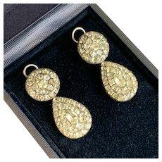 Rare 18th Century Portuguese Chrysoberyl Earrings