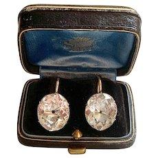 Extraordinary Large Georgian Rock Crystal Earrings