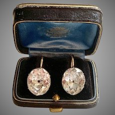 Extraordinary Large Georgian Rock Crystal Earrings