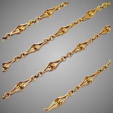 Magnificent Antique French 18 Karat Link Chain