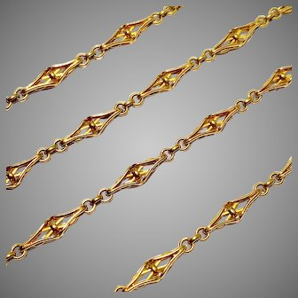 Magnificent Antique French 18 Karat Link Chain