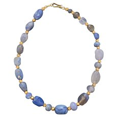 Ancient Chalcedony Bead Necklace