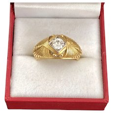 Antique French Egyptian Revival Diamond Ring