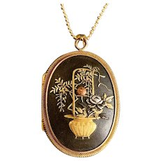 Antique Gold Fine Victorian Shakudo Locket
