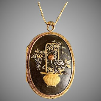 Antique Gold Fine Victorian Shakudo Locket
