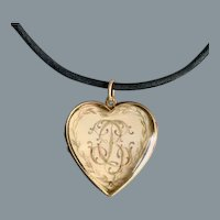 Antique Gold English Sentimental Locket Circa 1850