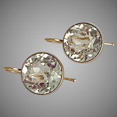 Radiant Rock Crystal Gold Earrings