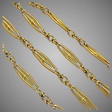 Beautiful Antique French Long 18 Karat Gold Chain