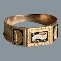 Antique French  Gold Enamel Friendship Ring