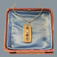 Antique Gold Love Pendant Circa 1810