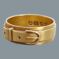 Antique Victorian 18 karat Gold Buckle Ring