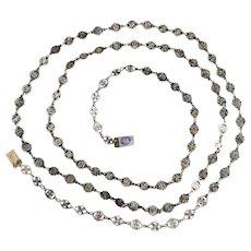 Antique French Georgian Silver Love Chain