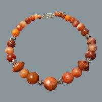 Ancient Carnelian Bead Necklace 2-3rd Century AD