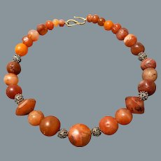 Ancient Carnelian Bead Necklace 2-3rd Century AD