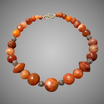 Ancient Chalcedony Bead Necklace 2-3rd Century AD