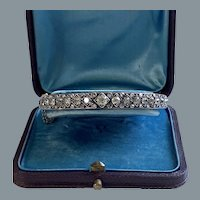 Superb Antique French Diamond Bangle Bracelet Circa 1880