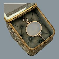Antique French Gold Chalcedony Watch Key Circa 1820