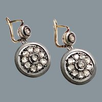 Antique Rose Diamond Earrings