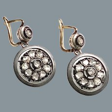 Antique Rose Diamond Earrings