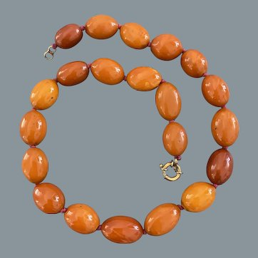 Antique Butterscotch Baltic Amber Necklace