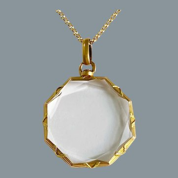 Lovely Antique French 18 Karat Gold Double Sided Locket