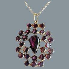 Antique 18th Century Garnet Pendant