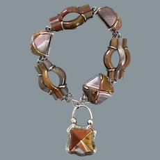 Rare Antique Scottish Agate Bracelet 19th Century
