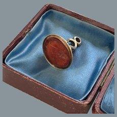 Rare Georgian 15 karat Gold Intaglio Wedding Seal/Fob