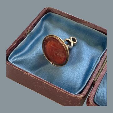 Rare Georgian 15 karat Gold Intaglio Wedding Seal/Fob