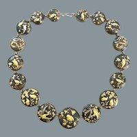 Exceptional Antique Shakudo Mixed Metal Necklace