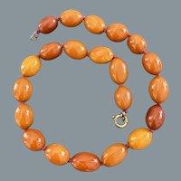 Antique Butterscotch Baltic Amber Necklace