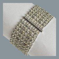 Elegant Platinum  Diamond Pearl Bracelet 1920