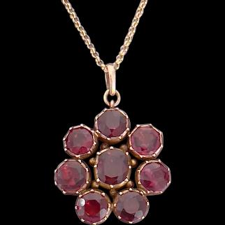 Antique Georgian Gold Garnet Pendant circa 1830