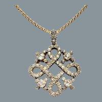 Antique Diamond Quatrefoil Pendant Circa 1880