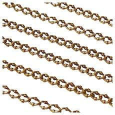 Antique French 18 Karat Gold Long Link Chain Circa 1890