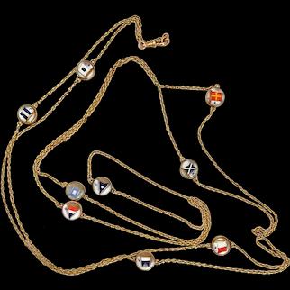 Antique Victorian Reverse Intaglio Crystal  Necklace