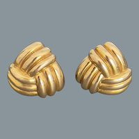 Beautiful Love Knot Gold Earrings