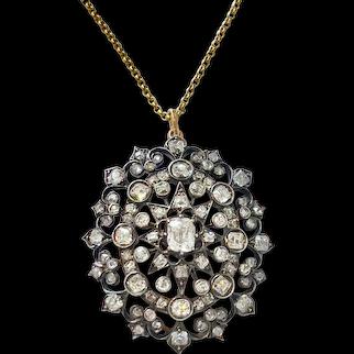 Antique Diamond Pin/Pendant