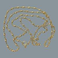 Fine Antique French 18 Karat Gold Long Chain