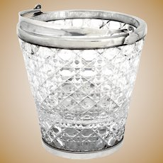 Antique Silver Plate Ice Pail with a Looped Swing Handle