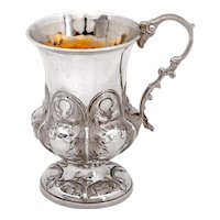 Victorian Sterling Silver Christening Cup with a Campana Shaped Body