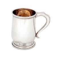 Large Georgian Style Sterling Silver Christening Mug