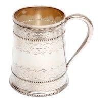 Victorian Thomas Bradbury Silver Plated Christening Mug