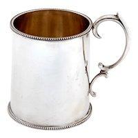 Plain Edwardian Sterling Silver Christening Mug