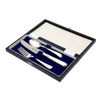 Cooper Brothers Boxed 3 p/c Sterling Silver Christening Set