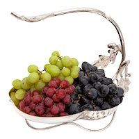 Hukin & Heath Silver Plated Grape Stand with Acorn and Oak Leaf Decoration