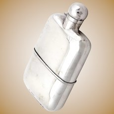Sampson Mordan Sterling Silver Hip Flask