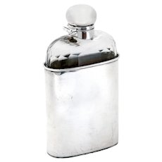 Antique Silver Plated Mappin and Webb Hip Flask